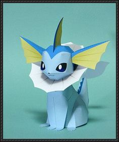 Pokemon - Vaporeon Free Papercraft Download More