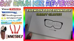 CHEMION PROGRAMMABLE  BLUETOOTH LED GLASSES
