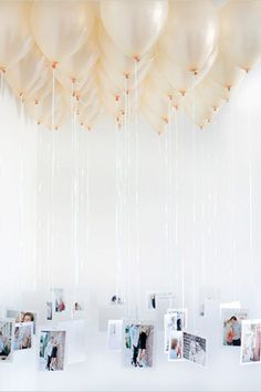 Balloon Escort Cards - Read more on One Fab Day: http://onefabday.com/wedding-balloon-ideas/