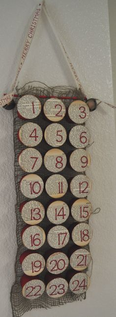 christmas advent calendar toilet paper rolls