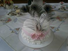 Roses, frills and peacock feathers Peacock Feathers, No Frills, Roses, Cake, Sweet, Desserts, Candy, Tailgate Desserts, Pie