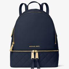 Michael Kors Rhea Medium Quilted-Leather Backpack d8ebc7d3443dc