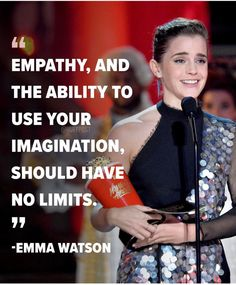 Emma Watson and Millie Bobby Brown have made history by becoming the first stars to accept gender-neutral acting awards in mainstream… Emma Watson Frases, Emma Watson Quotes, Millie Bobby Brown, Girl Quotes, Woman Quotes, Enma Watson, Tv Awards, Emma Thompson, Feminist Quotes