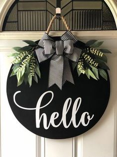 to share the latest addition to my shop: Round Door Hanger, Door H. -Excited to share the latest addition to my shop: Round Door Hanger, Door H. - Welcome Door Sign Welcome Door Hanger Front Door Decor Diy Christmas Decorations, Christmas Crafts, Holiday Decor, Diy Door Decorations, Apple Decorations, Xmas, Christmas Coasters, Home Crafts, Diy Home Decor