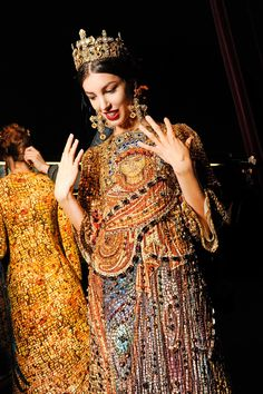 girlannachronism:  Dolce & Gabbana fall 2013 rtw backstage