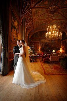 Stunning weddings at Eastnor Castle,  England.