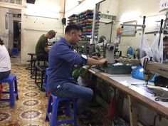 Making my parents proud. New job at a hanoi sweat shop. 2 dollars a day. Read more in my novel