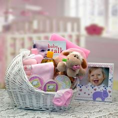 Welcome Baby Bassinet New Baby Basket-Pink