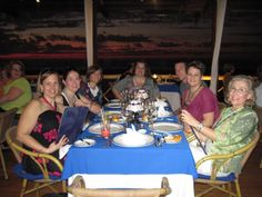 all of us at one of the AMAZING restaurants!  #iheartpuertovallarta
