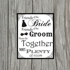 DIY Printable Friends of the Bride Friends by DownToTheLastDetails, $4.00