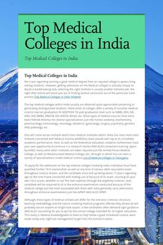 Top Medical Colleges in India