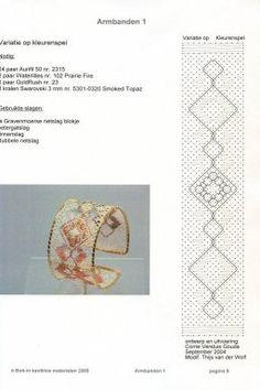 Punto de encuentro de encajeras Hairpin Lace Crochet, Perler Beads, Bobbin Lacemaking, Lace Art, Bobbin Lace Patterns, Lace Bracelet, Lace Jewelry, Needle Lace, Lace Making