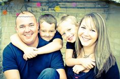 Blended Family of Four shot by C. Linz Photography #portrait #photography #clinzphotography