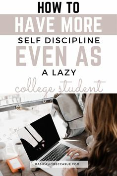 This is a super easy 4 step process to building self discipline! Girl College Dorms, College Club, College School, College Hacks, College Dorm Rooms, School Tips, School Hacks, College Packing Checklist, College Graduation Pictures