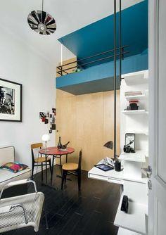 L'art du camouflage dans ce studio de 10 m2 - Studio chic et moderne dans 10 m2 - CôtéMaison.fr