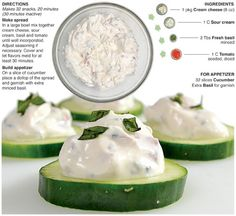 Creamy Tomato Basil Cucumber Bites