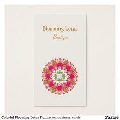 Carte De Visite Floraison Colore Fleur Portrait