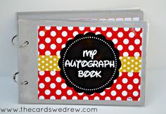 DIY Disney Autograph Book + Free Printable - The Cards We Drew