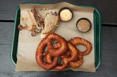 Nothing says taking it easy like big, doughy pretzels and big craft beers...