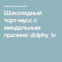 Шоколадный торт-мусс с миндальным пралине: dolphy_tv