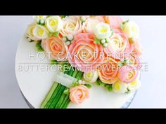 Pink Roses Buttercream bouquet cake - how to make by Olga Zaytseva / CAKE TRENDS 2017 #1 - YouTube