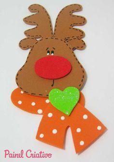 enfeite natal eva arvore natal guirlanda rena E V A . Christmas Chair, Kids Christmas, Christmas Shows, Christmas Projects, Foam Crafts, Paper Crafts, Xmas Ornaments, Christmas Decorations, Christmas Templates
