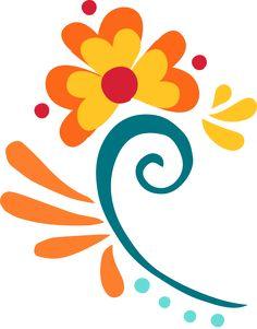 Elena of Avalor Sticker Book Pottery Painting Designs, Paint Designs, Folk Art Flowers, Flower Art, Mundo Hippie, Easy Flower Painting, Scandinavian Folk Art, Mexican Art, Chalk Art