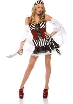 Sass of the Sea Pirate Costume £47.99 : Direct 2 U Fancy Dress Superstore. http://direct2ufancydress.com/sass-of-the-sea-pirate-costume-p-3007.html