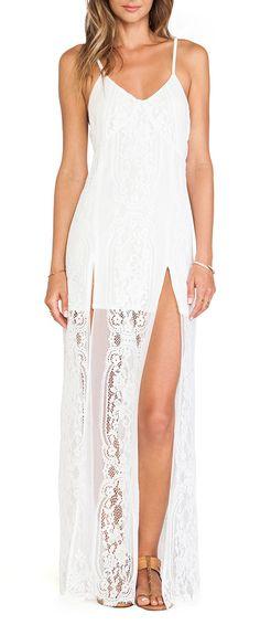 19c29b6e145785 For Love Lemons Long Horn Maxi Dress in Off White Affordable Dresses