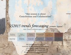 SS2015 trends forecasting Intimate Apparel - This season is about contribution and collaboration. www.FashionWebGraphic.com