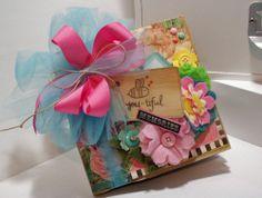 Handmade scrapbook paper bag mini album~~~~CUTE!~~~~~~~~~~~~~