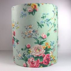 """Handmade Lampshade Using 1930s 1940s BN Vintage Cotton, 8"""" x 10"""""""