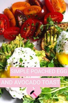 This recipe is convenient for days when you need something simple and easy to make for breakfast. Simple Poached Egg and Avocado Toast