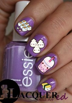 20 Kawaii Food Nail Art Decals Back to School by TheLacqueredBox, $2.50