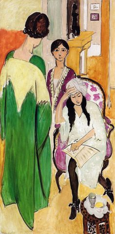 Henri Matisse - Three Sisters (Les Trois soeurs), 1917 at Barnes Foundation Philadelphia PA from the Masterworks Collection Catalog