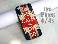 keep calm and love one direction - design case for iphone 4,4s | shayutiaccessories - Accessories on ArtFire