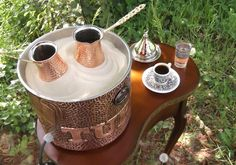 Authentic Turkish coffee on heated sand.  Visit our Pop up shop at 27 Peter Str. Soho / London and feel like a Sultan .