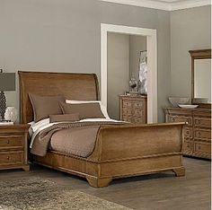 | Copy Cat Chic | chic for cheap: Restoration Hardware St. James Sleigh Bed