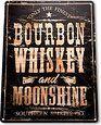 "Amazon.com - TIN SIGN ""Bourbon Whiskey"" Moonshine Decor Wall Art Bar Beer Shop Store A025 -"