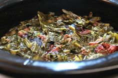 Southern, Soul food Collard Greens and Smoked Ham Hocks made in the Crock-Pot greens recipe crockpot soul food Crock-Pot Collard Greens and Ham Hocks Crockpot Collard Greens, Easy Collard Greens Recipe, Southern Collard Greens, Slow Cooker Recipes, Crockpot Recipes, Cooking Recipes, Crockpot Dishes, Barbecue Recipes, Meat Loaf