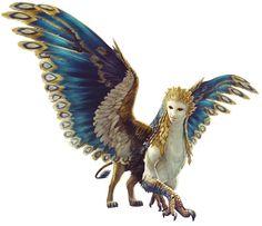 Sphinx, aber mit den falschen vorderbeinen, das ist eher Richtung Greif, eine Mischung zweier Wesen aus der Mythologie.