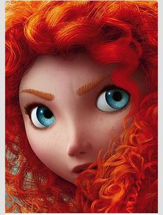 Love this closeup of Merida! I had no idea she had freckles!