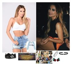 """""""💕 Stass 💕-The Game"""" by banks-on-it ❤ liked on Polyvore featuring adidas, Karl Lagerfeld, Atelier Swarovski and Amanda Rose Collection"""