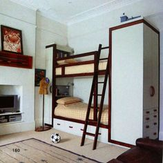 modern built-in bunks