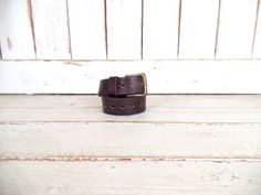 Distressed rugged dark brown vintage thick leather belt/country western leather belt/diamon cut out belt/boho belt by GreenCanyonTradingCo on Etsy