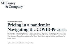 Pricing and the COVID-19 Crisis Cross Functional Team, Global Business, Supply Chain, Sales And Marketing, No Response, Leadership, Psychology, Positivity, Trends