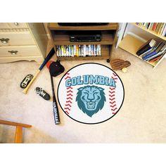 Columbia Lions NCAA Baseball Round Floor Mat (29)