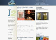 Jacket2's front page today: https://jacket2.org/