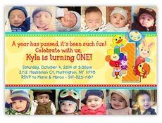 Notekins Baby First TV Digital Printable Birthday Invitation 1st