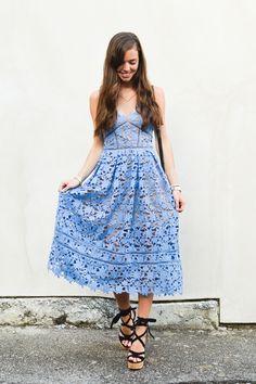 lcb style fashion blogger, self portrait azaelea dress, m gemi wedges, lace up wedges, gucci disco bag, hermes bracelet, gorjana necklace, lace dress, michcle watch